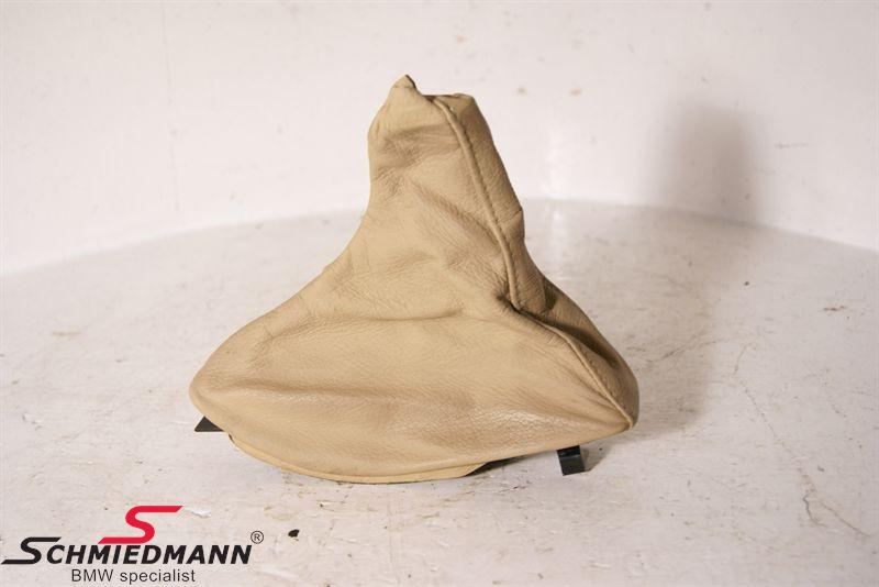 Lædermanchette til håndbremsen beige