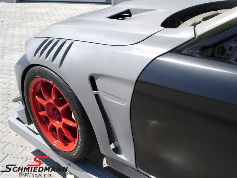 Forskærme carbon brede sæt -GT4- med 2 luftindtag på hver skærm (1 stk. på skærm-buen), original Flossmann Germany