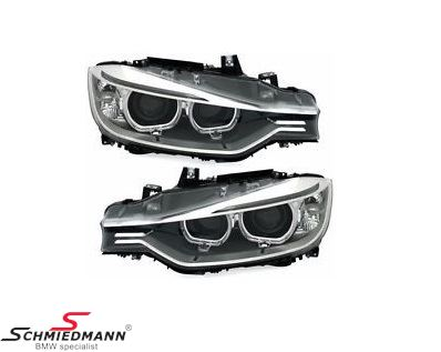 DEPO OE xenon look headlights with angel eyes rings, H7/H7 inclusive motor for light adjustment