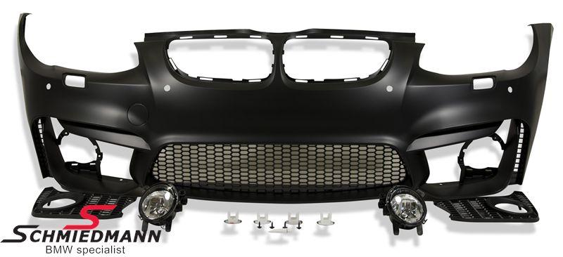 Frontspoiler Motorsport III EVO design inklusiv tågelygter