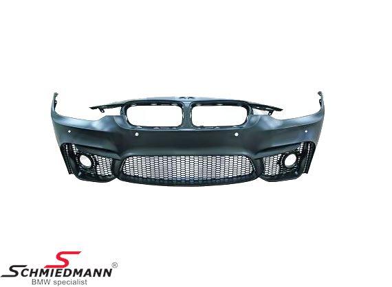 Frontspoiler -Motorsport II- design, eksklusiv tågelygter de originale kan genbruges