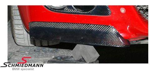 Frontspoilerlæbe-sæt ægte carbon til M3 frontspoiler