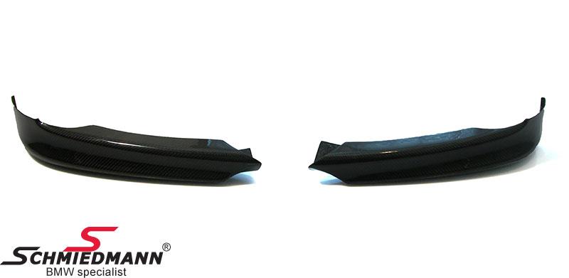 Frontspoilerlæbe-sæt ægte carbon