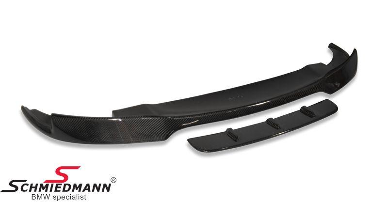 Frontspoilerlæbe -EVO- til M5 frontspoiler, ægte carbon overflade M5 (passer kun til modeller med original M5 frontspoiler)