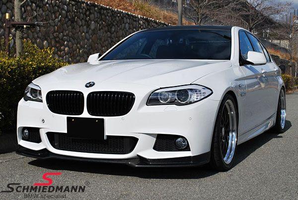 BMW F10 F11 Frontspoilerlippe -EVO- für M-Technic Frontspoiler echt Carbon