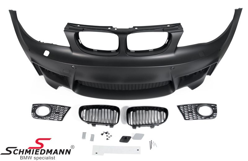 Frontspoiler Motorsport II design (standard tågelygterne passer i) inklusiv 1 sæt sorte nyrer