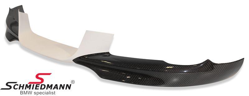 """Frontspoilerlæbe """"Motorsport"""" med carbon hjørner til org. kofanger"""