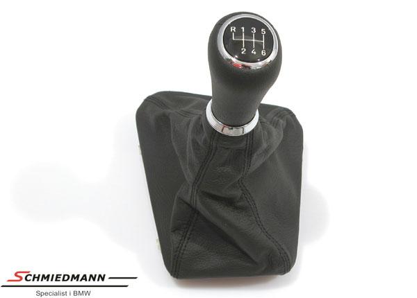 Gearknop belyst med lædermanchette