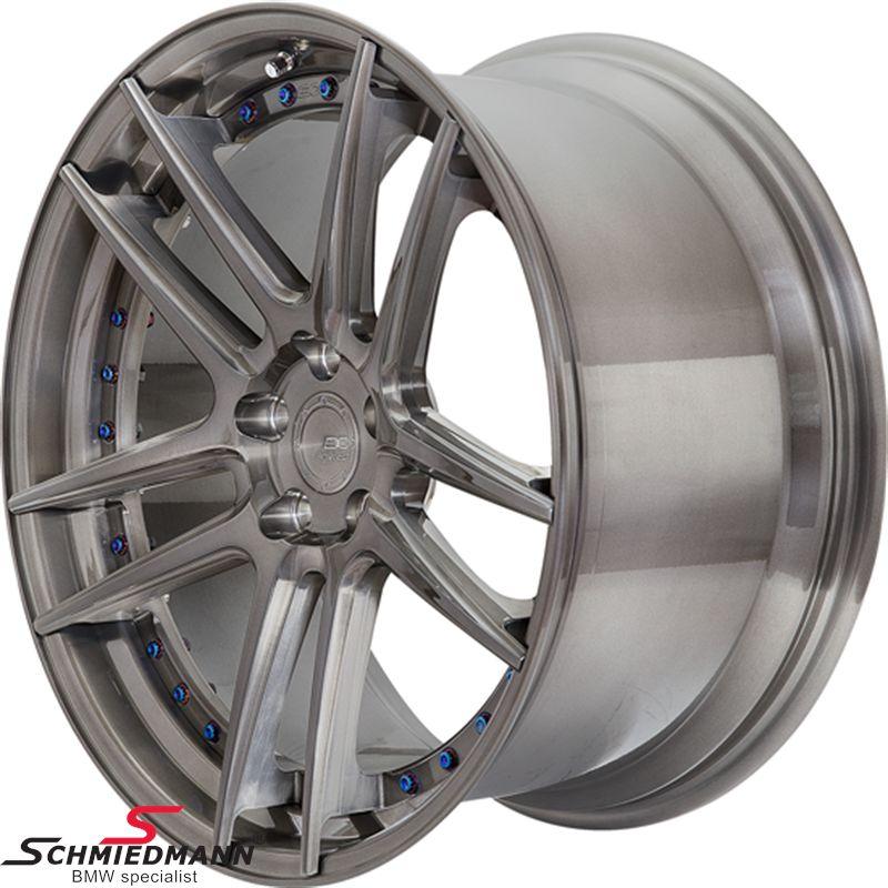 """20"""" BC Forged Wheels -HCS01S- smedet (forged) 2 delt splitfælg fælg 9,5X20 ET10, brushed black tint (farve valgfri)"""