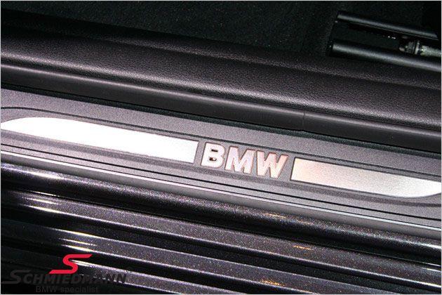 Indstigningsliste-sæt (4 stk.) belyste -BMW-, inklusiv ledningsnet