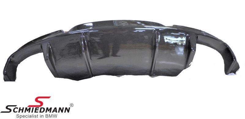 Hækskørte indsats Carbon fiber med store udskæringer til dobbelte rørhaler i hver side, EVO
