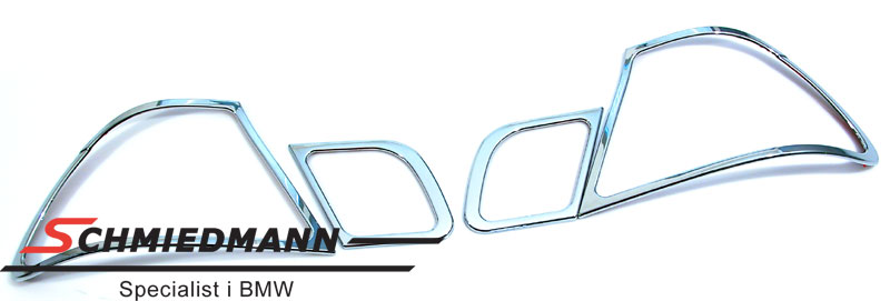 Chrom frame set for the taillights