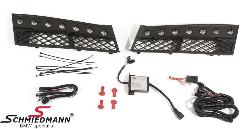 LED kørelys eftermonterings-sæt inkl. afdækninger