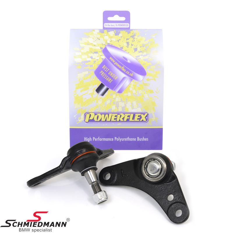 Powerflex racing bærekugle til midt på forreste bærearm, camber justeret negativ -1.25°