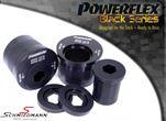 Powerflex racing -Black Series- bærearmsbøsninger, sæt til bagerst på forreste bærearm, caster justeret +2°