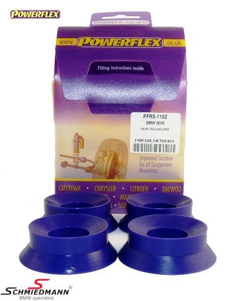 Powerflex racing bagsvingarms-bøsnings-indsatser (bøsninger til montering i de originale bøsninger)