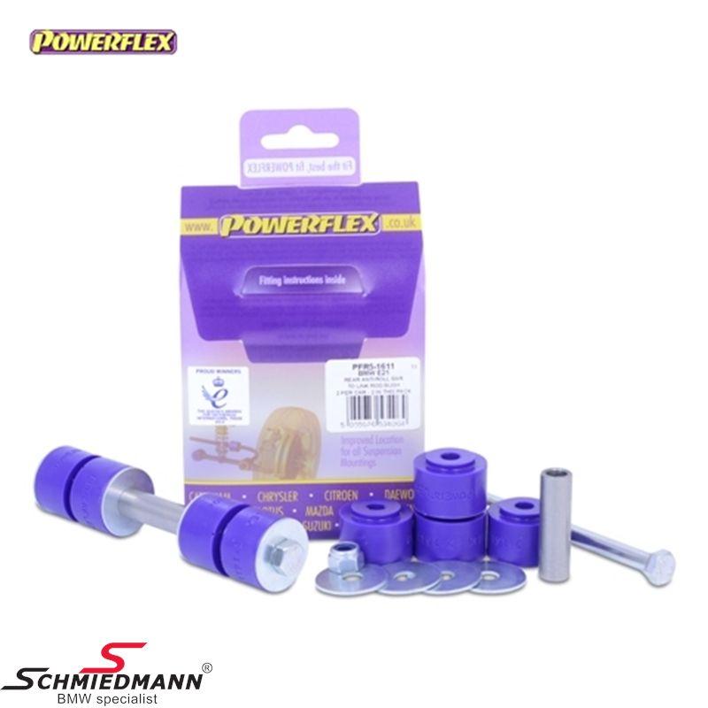 Powerflex racing bøsnings-sæt til stabilisator-forbindelsen bag nederst mod svingarmene