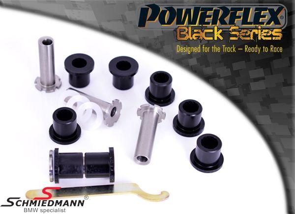 Powerflex racing -Black Series- bagsvingarms-bøsninger, med just. mulighed af camber + caster +/- 1 grad (til banebrug)