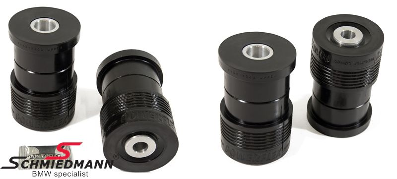Powerflex racing -Black Series- bøsninger yderste bageste+forreste (4stk.) sæt