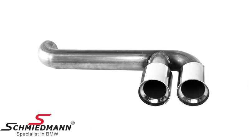 Chrom tailpipe set for center exhaust look