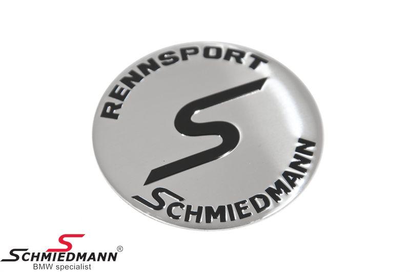 Schmiedmann fælge-emblem Ø64,5MM let buet (OE ref. vedr. størrelse: 36131181080)