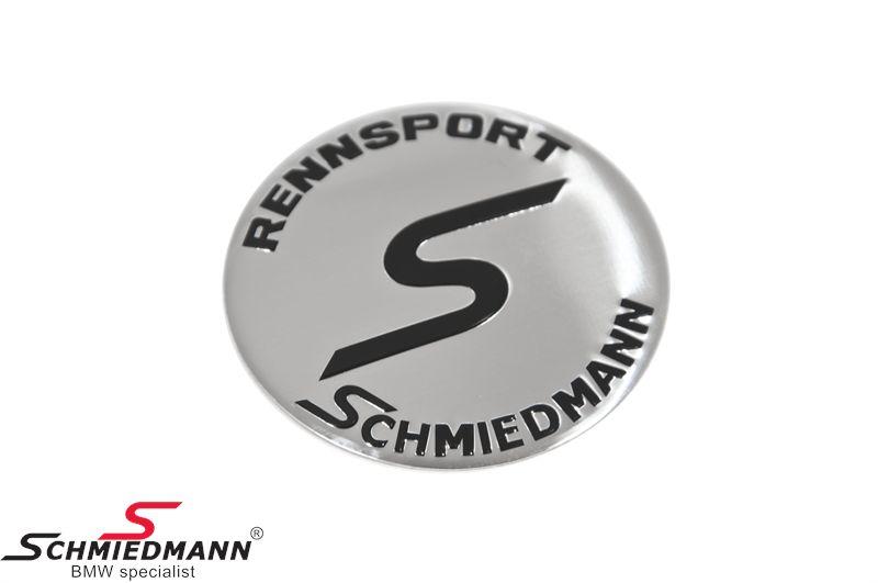 Schmiedmann fælge-emblem Ø58MM let buet (OE ref. vedr. størrelse: 36131181081)