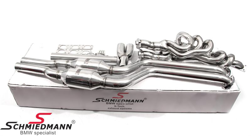 Schmiedmann high flow bananmanifold inkl. 400celler Euro3D4 metal sports katalysatorer M52/M54