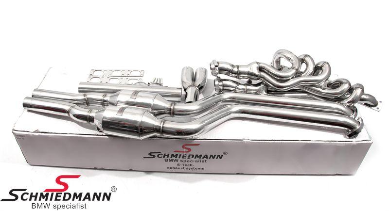 Schmiedmann high flow bananmanifold inkl. 400celler Euro3D4 metal sports katalysatorer M52/M54