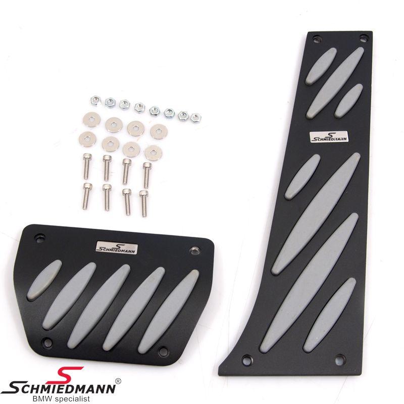 Набор легкосплавных педалей Schmiedmann черный / серый-Эксклюзив - со вставленными логоплатами