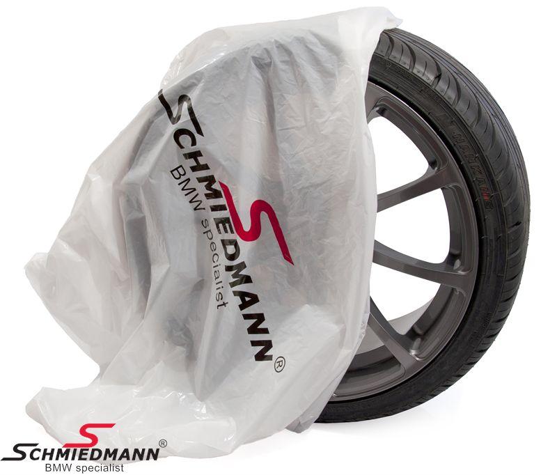Schmiedmann dækposer 700x260x1000MM hvide m- -Schmiedmann- logo