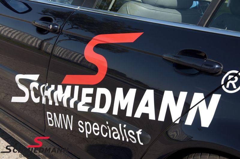 """Schmiedmann streamer sæt store længde = 140CM rødt """"S"""" tekst hvid"""