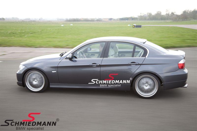 """Schmiedmann streamer sæt store længde = 80CM rødt """"S"""" tekst hvid"""