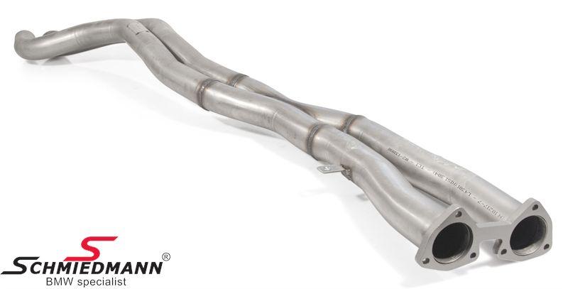 Schmiedmann bageste midterpotte-erstatning / X-rør (fra kat og bagud) rustfrit stål