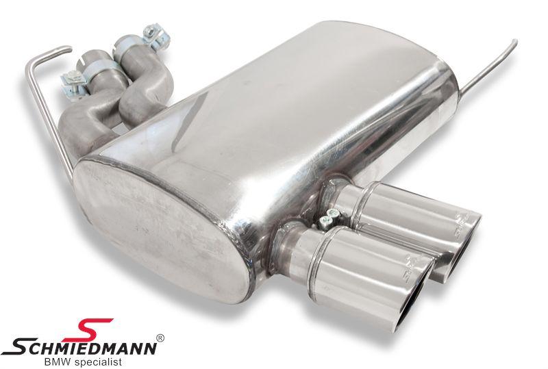 Schmiedmann rustfri-stål sportsbagpotte 2XØ76MM