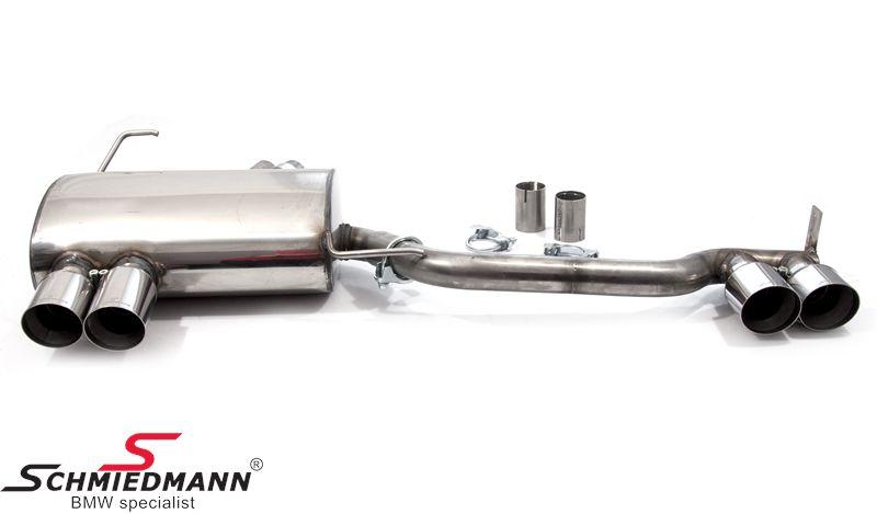 Schmiedmann rustfri-stål sportsbagpotte 4XØ76MM