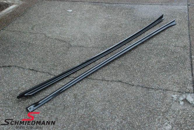 Sideskørte-extention-sæt carbon -EVO-X-, monteres under de originale sideskørter