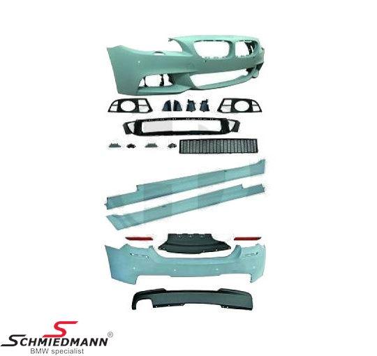 Spoiler-sæt -Motorsport 1- frontspoiler+sideskørter+hækskørte (tågelygterne fra standard kofangeren kan genanvendes)