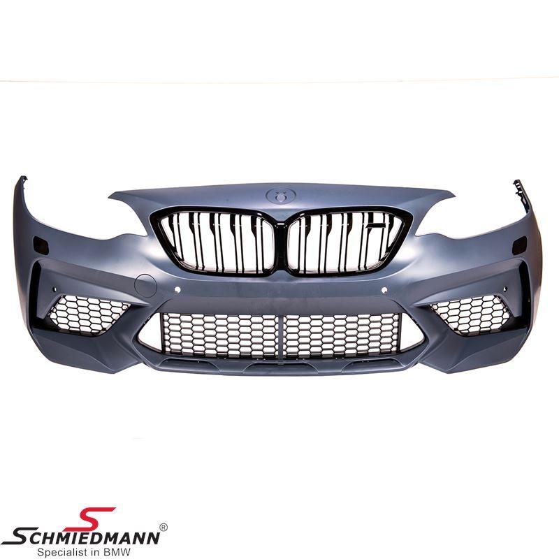 Spoiler-sæt -Motorsport 3- frontspoiler inklusiv sideskørter+hækskørte (uden tågelygter, de fjernes til fordel for større luftindtag)