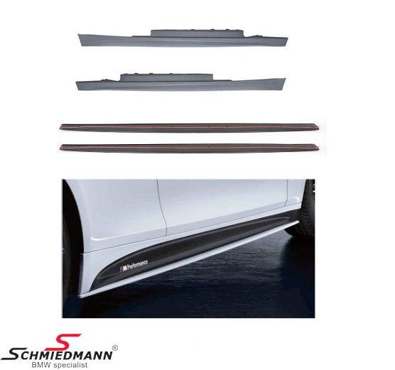 M-Technic sideskørte sæt inklusiv sidekørte-extention sæt org. BMW ///M Performance inkl. lim og M-Performance stafferinger til begge sider