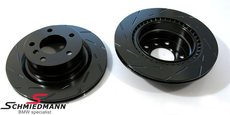 Racerbremse-skiver bag sæt 336X22MM ventilerede m. riller EBC Ultimax BlackDash